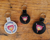 Anatomical Bladder Keychain - with or without custom text - two sizes.