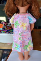 "Custom Hospital Gown for 18"" Doll like American Girl, Our Generation, Journey Girls, Madame Alexander"