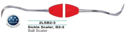Dental Ball Scaler B 2-3, Autoclavable Silicone Handle - BriteSources