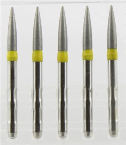 Diamond Burs, Cylinder Flat Shape, Fine Grit Multi-Use 108Cd-58F - BriteSources