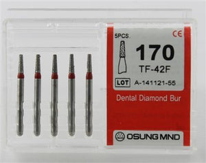 Diamond Burs, Taper Flat Shape, Fine Grit Multi-Use 170Tf-42F - BriteSources