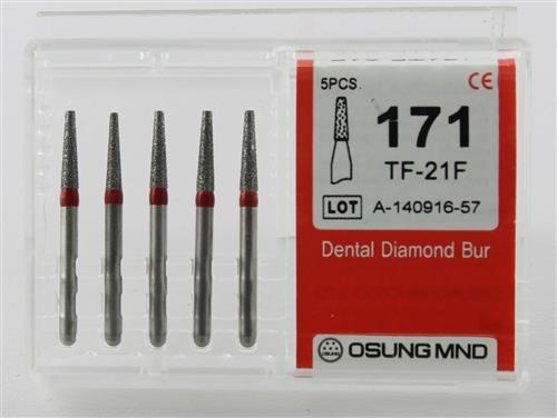 Diamond Burs, Taper Flat Shape, Fine Grit Multi-Use 171Tf-21F - DentalSupplyHouston.com