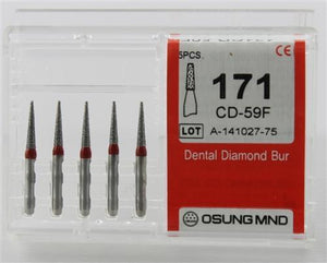 Diamond Burs, Taper Flat Shape, Fine Grit Multi-Use 171Cd-59F - BriteSources