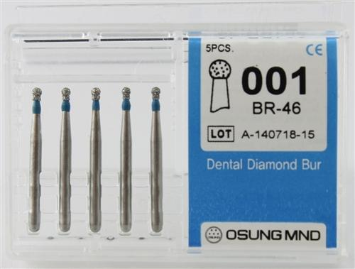 Diamond Burs, Ball Round Shape, Standard Grit Multi-Use 001Br-46 - DentalSupplyHouston.com