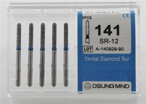 Diamond Burs, Cylindrical Round Shape, Std Grit Multi-Use 141Sr-12 - BriteSources