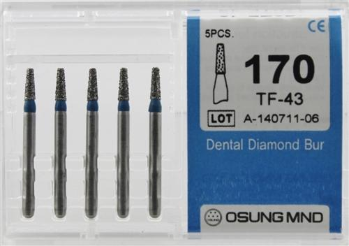 Diamond Burs, Taper Flat Shape, Standard Grit Multi-Use 170Tf-43 - DentalSupplyHouston.com