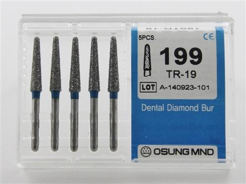 Diamond Burs, Taper Round Shape, Standard Grit Multi-Use 199Tr-19 - DentalSupplyHouston.com