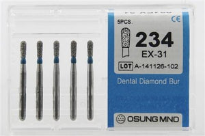 Diamond Burs, Pear Shape, Standard Grit Multi-Use 234Ex-31 - DentalSupplyHouston.com