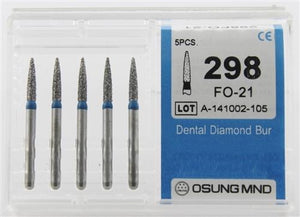 Diamond Burs, Cylindrical Ogival Shape, Std Grit Multi-Use 289So-21 - BriteSources