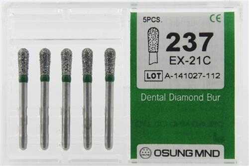 Diamond Burs, Pear Shape, Coarse Grit Multi-Use 237Ex-21C - BriteSources