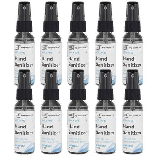 [USA Made] Hand Sanitizer Disinfectant Spray 1oz Bottles - 99.9% effective against most germs - 10 pcs - DentalSupplyHouston.com