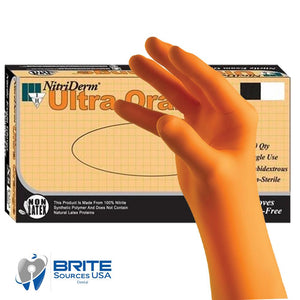 IHC X-Large NitriDerm Ultra Orange Powder-Free Nitrile Exam Glove - 100/Box - BriteSources