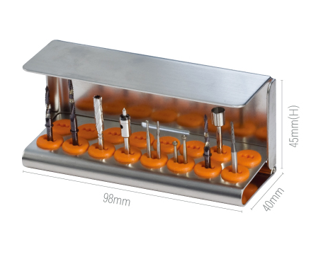 Dental Surgical Drill Bit Stand, DSTA16 - DentalSupplyHouston.com