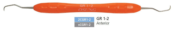 Dental Curette, Gracey, Standard, Autoclavable Silicone Handle, 2CGR1-2 - DentalSupplyHouston.com