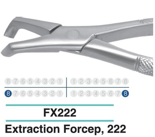 Dental Extraction Forcep LOWER MOLARS, FX222 - DentalSupplyHouston.com