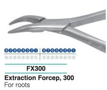 Dental Extraction Forcep UPPER ROOTS, FX300 - BriteSources