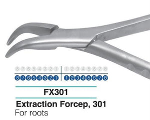 Dental Extraction Forcep LOWER ROOTS, FX301 - DentalSupplyHouston.com