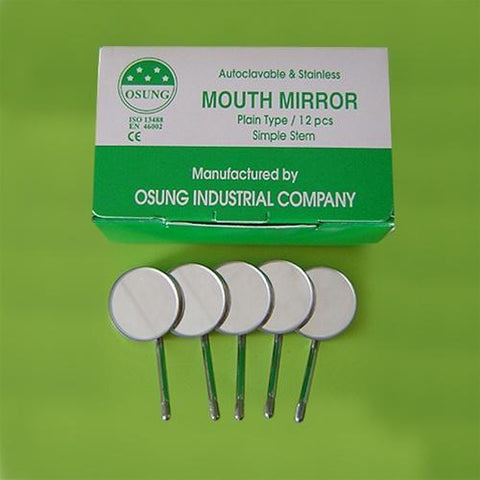 Dental Mouth Mirror #5, Simple Stem, 12 pcs, DMSS5 - BriteSources
