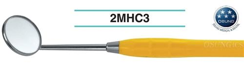Mouth Mirror, Autoclavable Handle, Cone Socket, Yellow, 2MHC3 - DentalSupplyHouston.com