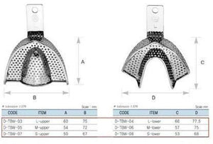 Dental Impression Tray Set, 6 pc, Reg, TBWZ6 - DentalSupplyHouston.com