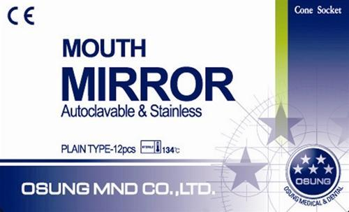 Dental Mouth Mirrors #5, Cone Socket, 12 pcs, DMCS5 - BriteSources