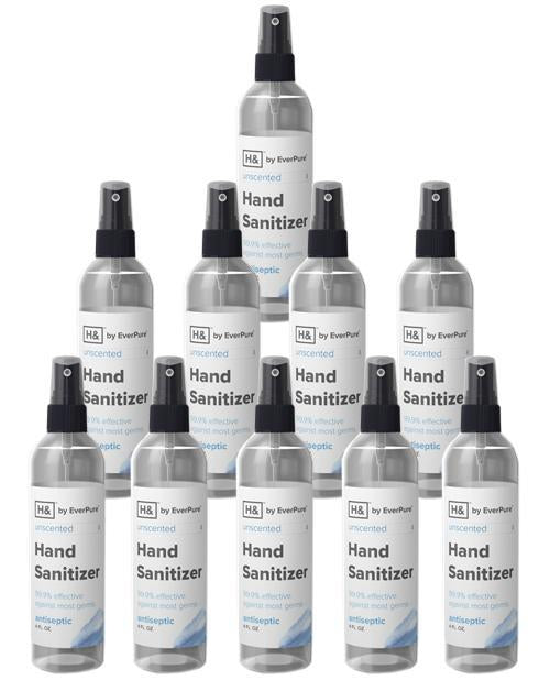 [USA Made] Hand Sanitizer Disinfectant Spray 4oz Bottles - 99.9% effective against most germs - 10 pcs - DentalSupplyHouston.com