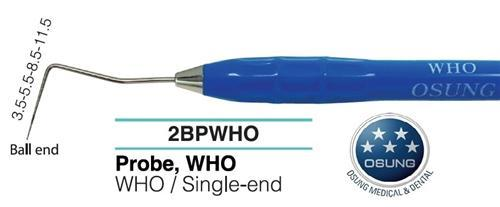 Dental Ball End Probe, Autoclavable Silicone Handle, PWHO - BriteSources