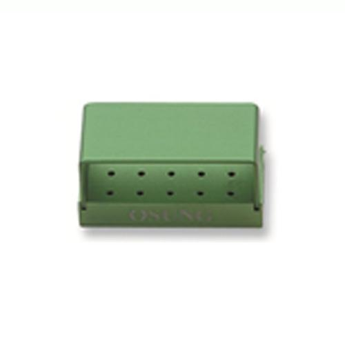 Dental Bur Holder Block, Green, D-ECC-02 - DentalSupplyHouston.com