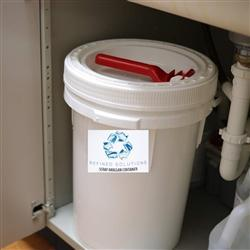 Scrap Amalgam 3.5 Gallon Recycle Bucket Medical Dental Waste Disposal - BriteSources