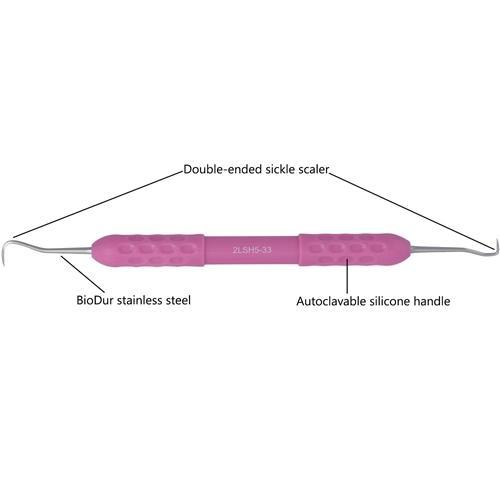 Dental Sickle Scaler, Autoclavable Silicone Handle, Anterior , 2LSH5-33 - DentalSupplyHouston.com