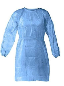 Disposable Tie-Back Protective Isolation Gown,  Regular, 10 pcs - BriteSources