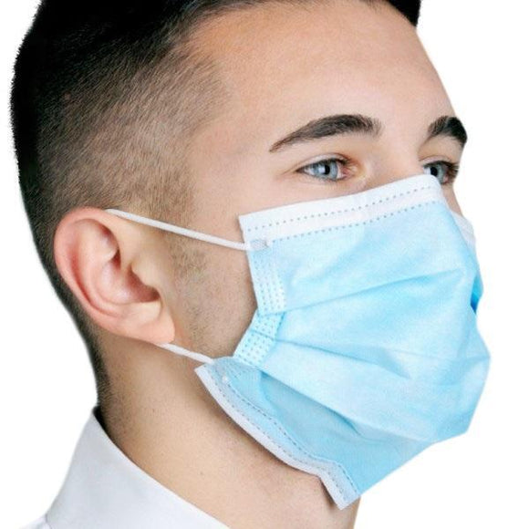 3 Ply Protection Pleated Dual Fit Ear-Loop Procedure Face Mask (Non Surgical Masks) - DentalSupplyHouston.com