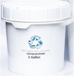 Scrap Amalgam 5 Gallon Recycle Bucket Medical Dental Waste Disposal - BriteSources