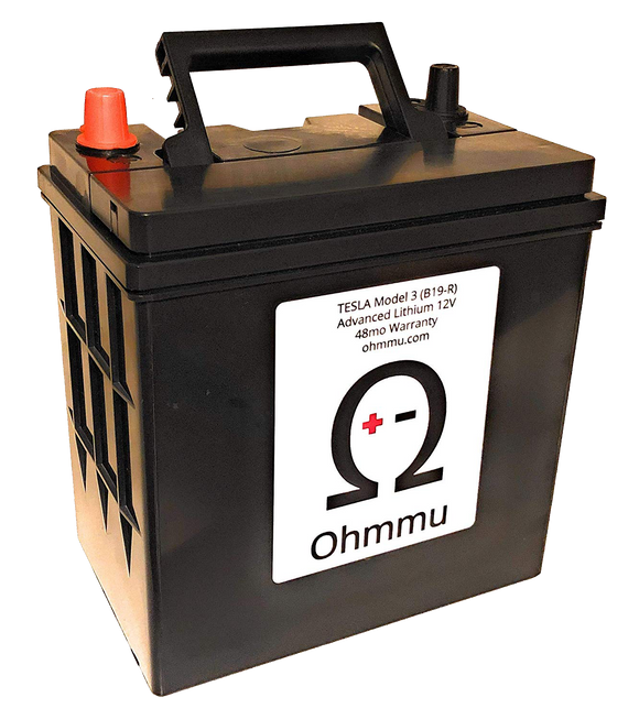 Ohmmu 12V Lithium Battery for TESLA Model 3