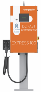 ChargePoint Express 100 DC Fast SAE CCS Combo Single Charger (Pedestal) - Network License per Port Required