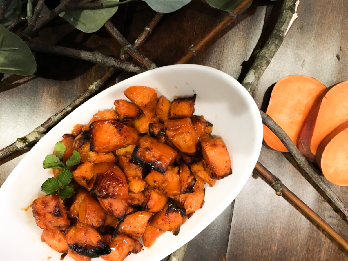 Chipotle Caramel Sweet Potatoes