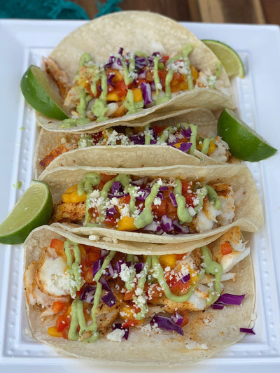 Fish Tacos with Chipotle Caramel Glaze