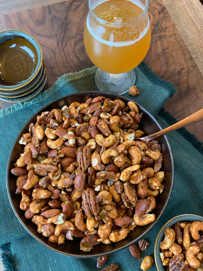 Chipotle Caramel Glazed Nuts