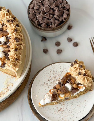 Over the Top Peanut Butter Chocolate Chip Cookie Cake
