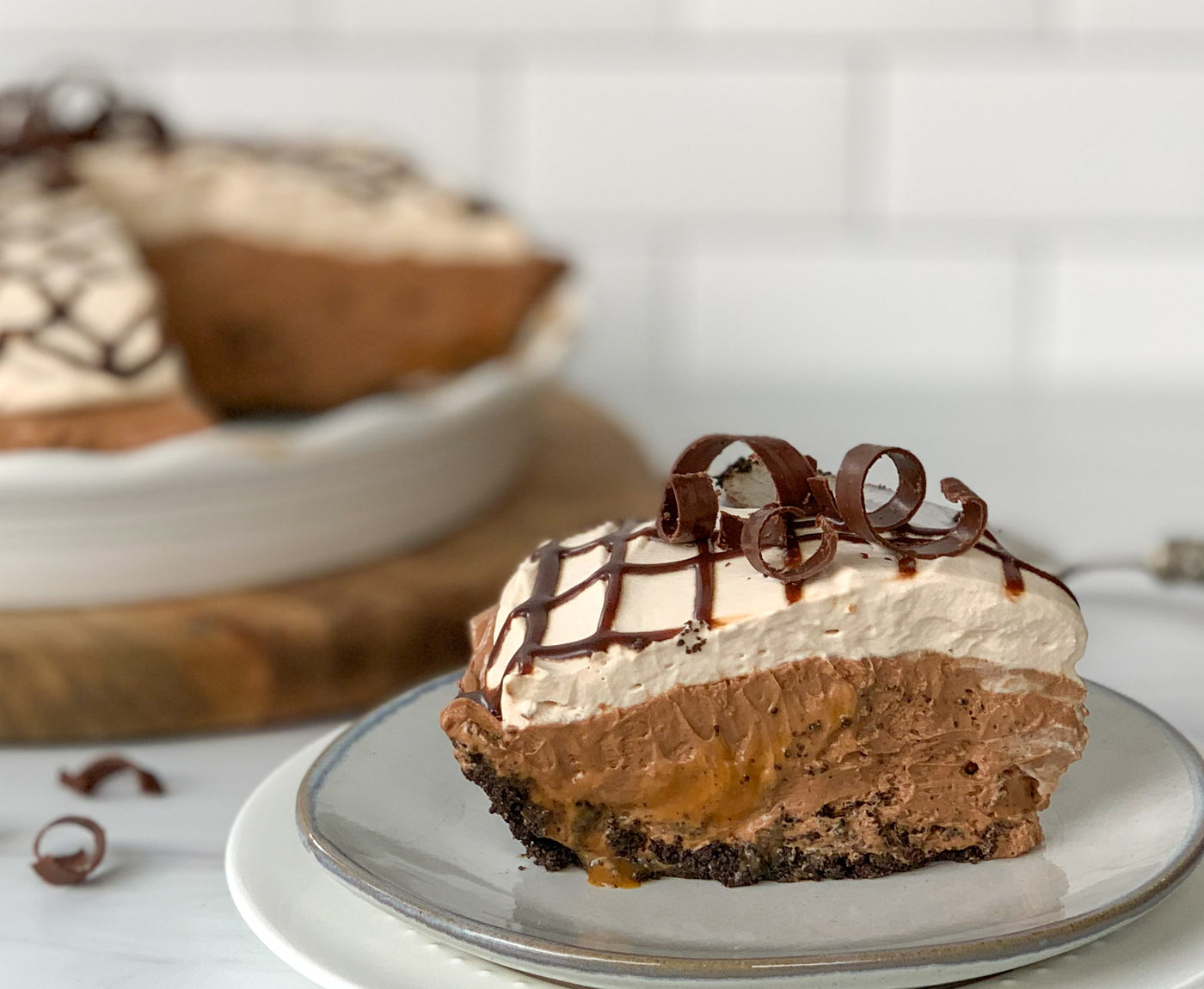 Chocolate Caramel Silk Pie