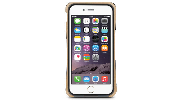 IRONP6MCH | Flexible Protective Frame for iPhone 6/6s (Gold) - Macally