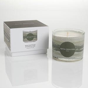 Royal Doulton Fashion Spiced Woods & Pine Glass Candle 250g
