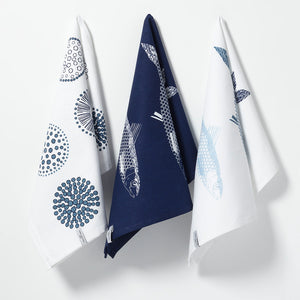 Royal Doulton Pacific Tea Towel 3 Pack Fish