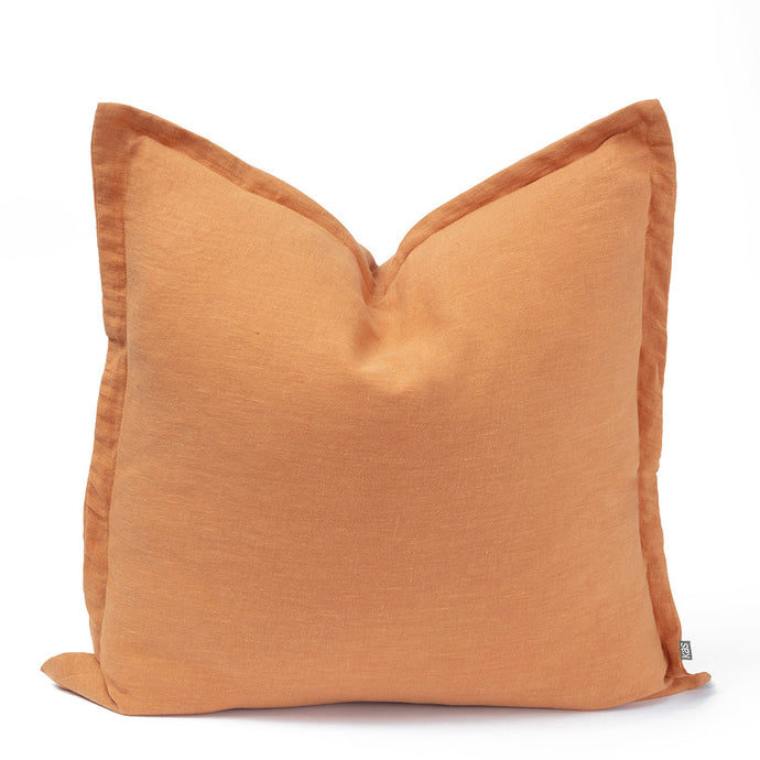 KAS Linen Cushion Mustard