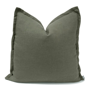 KAS Linen Cushion Olive