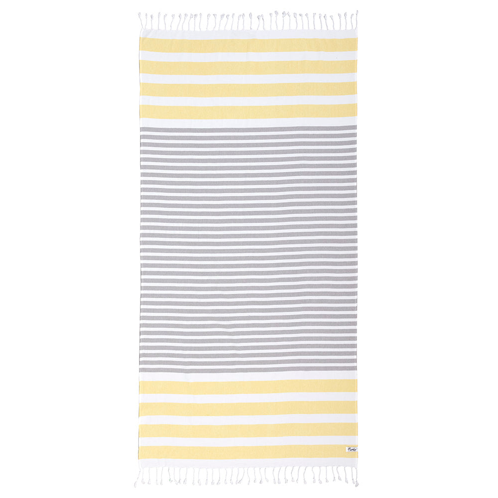 Mambo Hammam Antalya Beach Towel Yellow/Grey