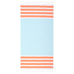Mambo Hammam Antalya Beach Towel Peach/Aqua