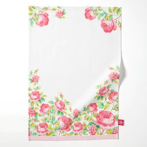 Royal Albert Cheeky Pink Rose Garden Tea Towel