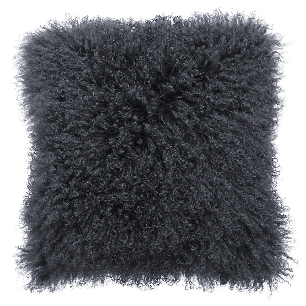 Royal Albert Mongolian Fur Cushion Coal