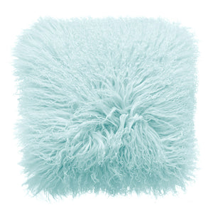 Royal Albert Mongolian Fur Cushion Haze Blue